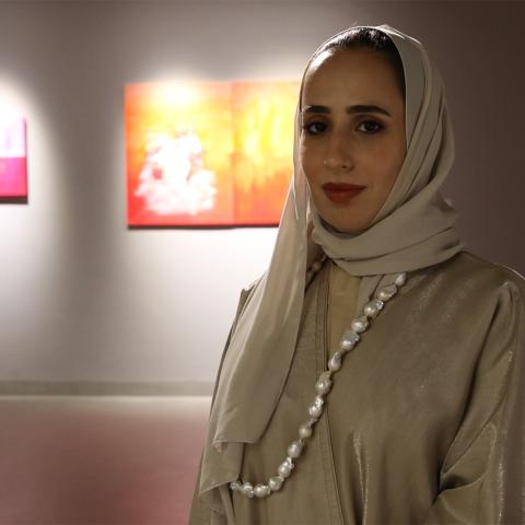"""صور: إنطلاق معرض """"أعمال قيد الإنتاج"""" في """"عائشة العبار آرت غاليري"""" في دبي"""