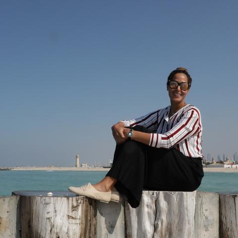 صور: السباحة التونسية سارة الاجنف، قصة نجاح تحتضنها الإمارات