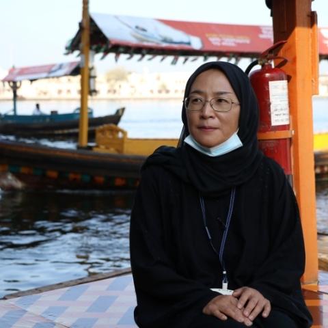 """صور: """"نور اليابانية"""".. رحلة مع مرشدة سياحية يابانية في الإمارات"""
