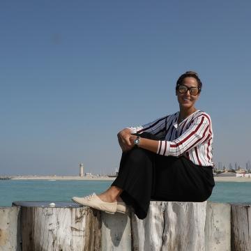Photo: Sara Al Ajnaf: Swimmer and Triathlon athlete making history in the UAE!