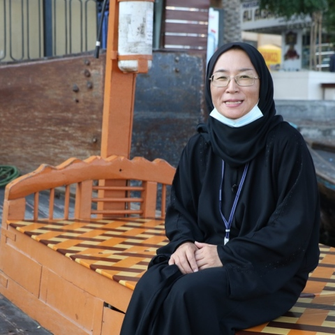 "Photo: ""Noor the Japanese"".. An Exceptional Guide in the Emirates for over two decades!"