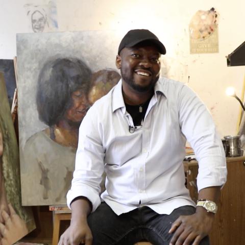 "${rs.image.photo} جولة في عالم الرسام الزامبي ""فيكتور سيتالي"" الصامت"