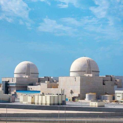 صور: ربط ثاني محطات براكة للطاقة النووية السلمية بشبكة الكهرباء الرئيسية في دولة الإمارات