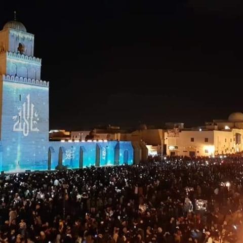 صور: مدينة القيروان التونسية تتعافى من كورونا وتحتفي بالمولد النبوي الشريف على طريقتها!
